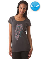 ARMEDANGELS Womens Uma Mrs. Owl S/S T-Shirt acid black