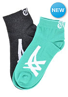 ASICS 2 Pack Ankle Socks grey heather/blarney
