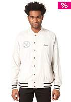 BEASTIN Always Beastin Varsity Jacket cream/black