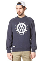 BEASTIN Bonafide Beasts Crewneck navy heather/white/gold