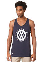 BEASTIN Bonafide Beasts Loose Tank Top deep navy/white/gold