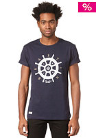 BEASTIN Bonafide Beasts S/S T-Shirt deep navy/white/gold