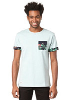 BEASTIN Marley Pocket S/S T-Shirt dirty aqua heather/multicolor