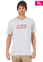 BEASTIN No Guts No Glory S/S T-Shirt grey heather/maroon