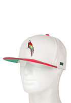 BEASTIN Poly Snap Back Cap off white/green wool