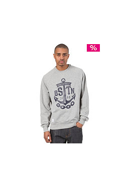 BEASTIN Semper Fidelis Crewneck Sweatshirt grey heather/deep navy