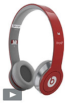 BEATS Solo HD beats by Dr. Dre Headphones red