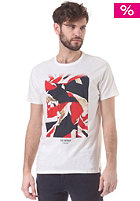 BEN SHERMAN Flag Print S/S T-Shirt snow white