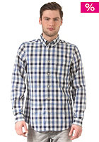 BEN SHERMAN Space Dye Gingham royal blue