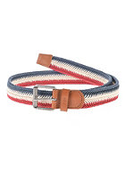 BEN SHERMAN Striped Fishtail Plait Belt multi