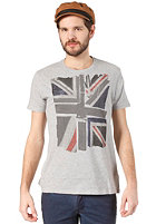 BEN SHERMAN Union Jack Print S/S T-Shirt oxford marl