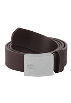BEN SHERMAN Union Plaque Belt chocolate