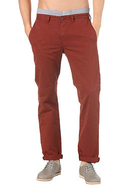 BEN SHERMAN Washed Chino Pant brown rust