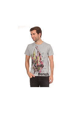 BENCH Anger Tear S/S T-Shirt grey marl