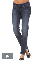 BENCH Becky Straight Pants mid worn blue BLM 080.7
