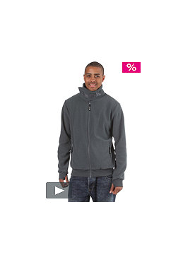 BENCH Core Funnel Fleece Hooded Zip Sweat dark slate