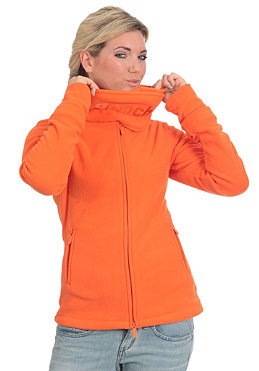 BENCH Funnel Neck Fleece red orange BLE 021E