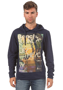 BENCH Jammy Hooded L/S T-Shirt peacoat