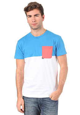 BENCH Jumped S/S T-Shirt brilliant blue/white