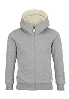 BENCH Kids Fluffo Hooded Jacket grey marl