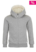 BENCH Kids Fluffo Hooded Zip Sweat grey marl