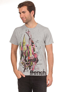 BENCH Mens Anger Tear S/S T-Shirt grey marl BMG 2606