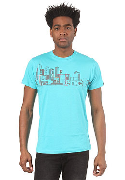 BENCH Mens Check City S/S T-Shirt blue curacao BMG 2722