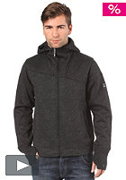 BENCH Mens Hakon Hooded Zip Woolsweat anthracite marl BMF 1020