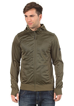 BENCH Mens Heston Hooded Zip Sweat olive night BME 1870