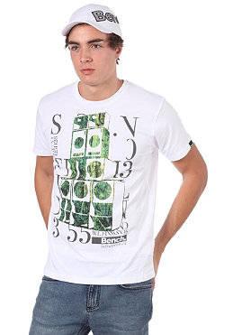 BENCH Mens Nature Sounds S/S T-Shirt white BMG 2502