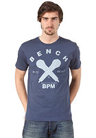 BENCH Mic Check S/S T-Shirt dark denim