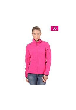 BENCH Paige Zip Fleece Sweatshirt fuchsia purple