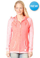 BENCH Womens ACK Hooded Zip Sweat FIERY CORAL