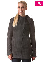 BENCH Womens Assymetro Cardigan black marl