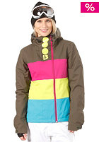 BENCH Womens Becky Block Jacket forest night
