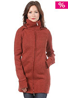 BENCH Womens Bradie Knitted Hooded Sweat cinnabar