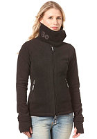 Womens Funnel Neck Fleece Jacket black