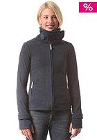 Womens Funnel Neck Fleece Jacket total eclipse