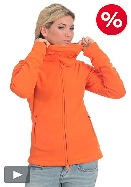 BENCH Womens Funnel Neck Fleece red orange