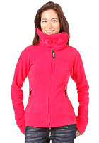 BENCH Womens Funnel Neck Fleece rose red