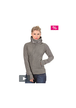 BENCH Womens Funnel Neck Fleece smoked pearl