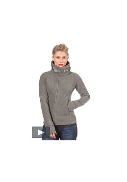 BENCH Womens Funnel Neck Fleece Sweat smoked pearl