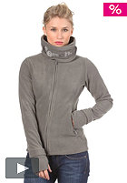 Womens Funnel Neck Fleece Sweat smoked pearl