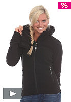 Womens Funnelhood Hooded Zip Fleece Jacket black