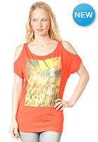 BENCH Womens Gathorne S/S T-Shirt FIERY CORAL