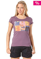 BENCH Womens Gridlock S/S T-Shirt vintage violet