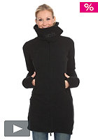 BENCH Womens Long Funnel Neck Sweat Jacket black