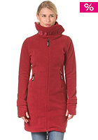 BENCH Womens Long Funnel Neck Sweat tibetan red