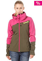 BENCH Womens Massy Match Softshell Jacket fuchsia red
