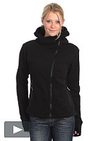 BENCH Womens Ninja Asymmetric Zip Fleece BLE 333 black